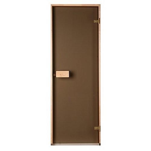 Стеклянная дверь для бани и сауны Saunax Classic прозрачная бронза 70/190