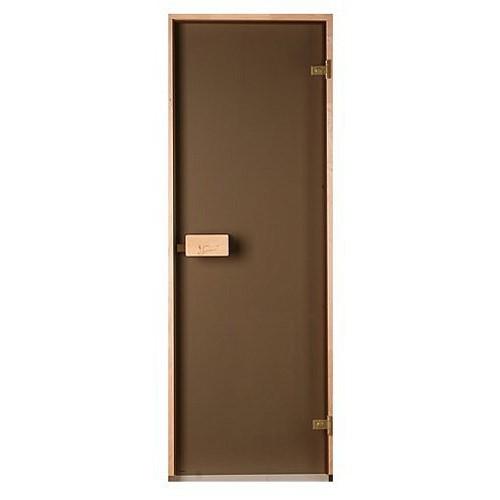 Стеклянная дверь для бани и сауны Classic матовая бронза 80/200