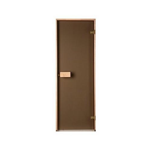 Стеклянная дверь для бани и сауны Classic прозрачная бронза 80/210