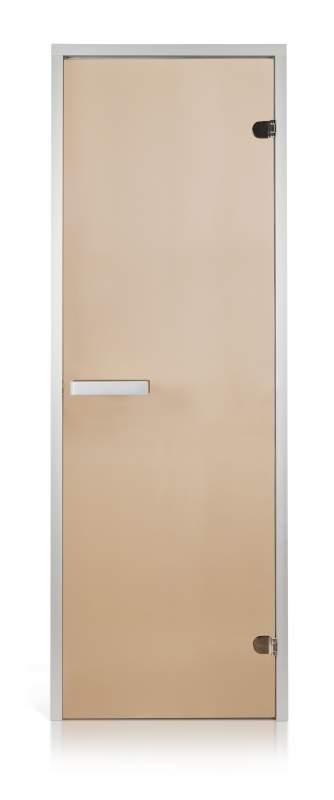 Стеклянная дверь для хамама Intercom прозрачная бронза 70/190 алюминий