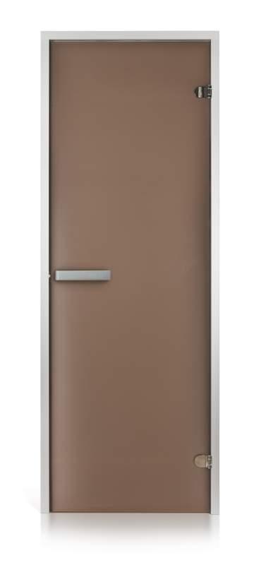 Стеклянная дверь для хамама Intercom матовая бронза 80/200 алюминий