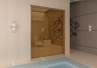 Стеклянный экран для сауны, бассейна и спа, стекло бронзовое