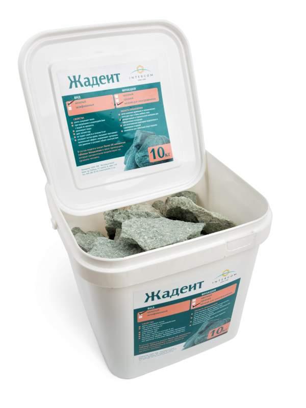 Камень жадеит колотый мелкий, ведро 10 кг для электрокаменки
