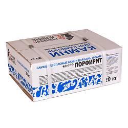 Порфирит обвалованный 20 кг, коробка, мытый