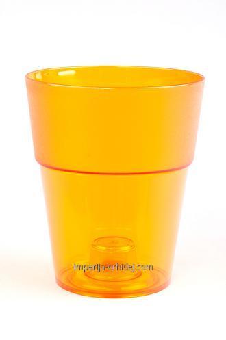 Кашпо Коло для Орхидей, оранжевый, d 135mm
