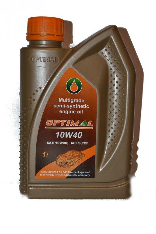 Полусинтетическое моторное масло Optimal 10W40, 1л