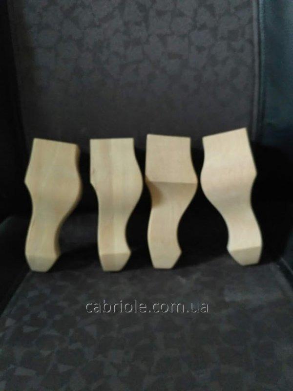 Ножка фигурная, гнутая, кабриоль  деревянная