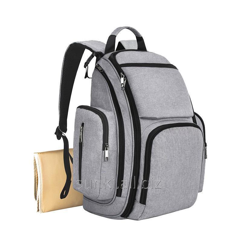 983716ba6a43 Сумка-рюкзак SUNROZ Mummy Bag мультифункциональный органайзер для мамы  Серый (SUN0628)