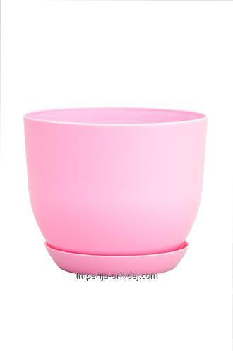 Горшок Классик с подставкой, d220mm, розовый