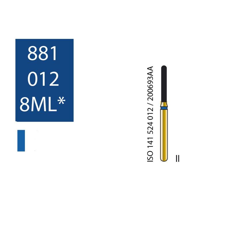 Купить Бор алмазный DIATECH 881012-8ML удлиненная закругленная фиссура