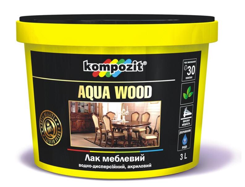 Лак мебельный AQUA WOOD водоразбавляемый акриловый