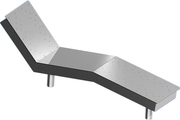 Лежак аэромассажный (под пленку)