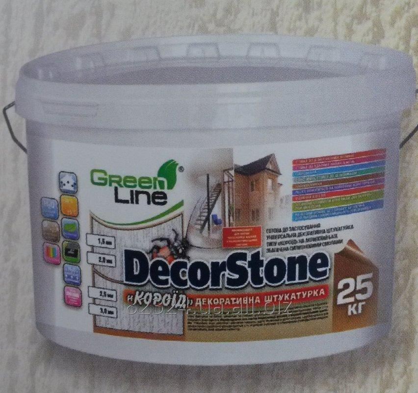 Купить Декоративная штукатурка Green Line готовая к применению «DecorStone» (короед)
