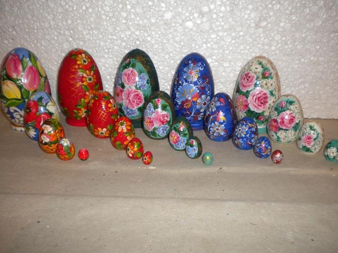 Комплект сувенирный из 5-ти штук яиц