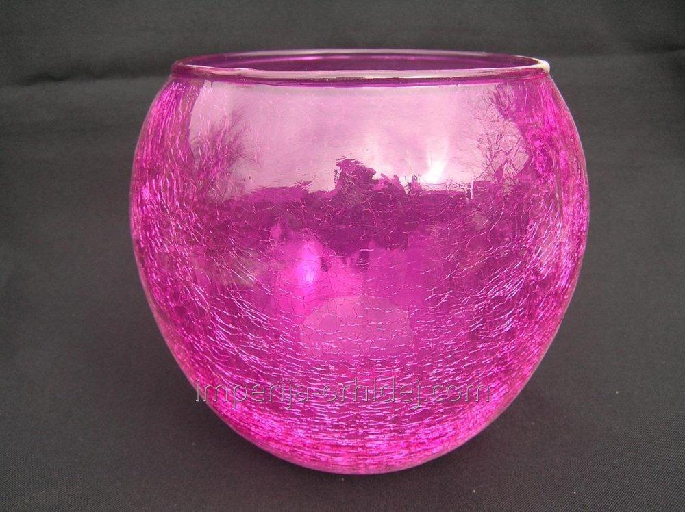 Кашпо для Орхидей Сфера, розовый,  D12,5