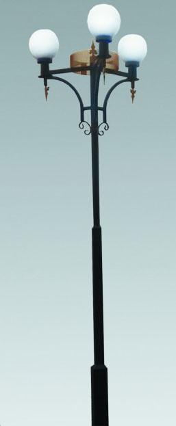 Металлическая опора (фонарь уличный) уличного освещения №1