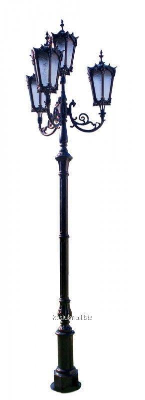 Чугунная опора (фонарь уличный) уличного освещения №5