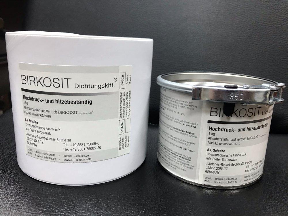 BIRKOSIT  (уплотнительная паста, герметик-прокладка 900 оС, 45 МПа)