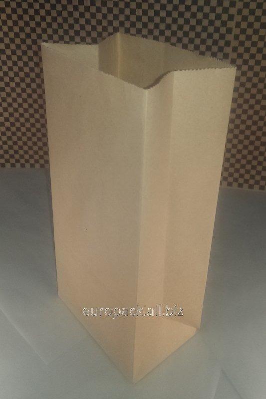 Эко-пакеты прямоугольное дно без ручек 120х85х250 вторичный крафт бурый
