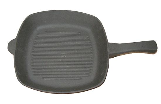 Чугунная сковорода гриль большой