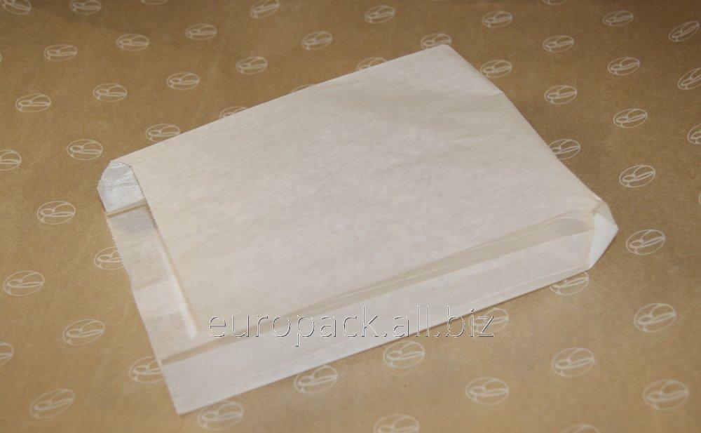 Пакет бумажный упаковочный крафт белый 220х140х50
