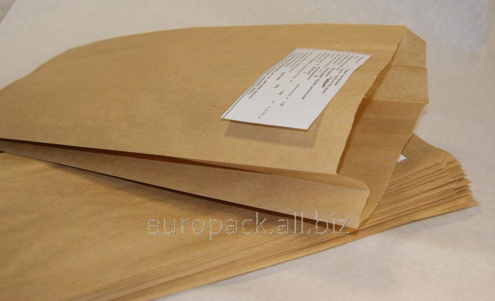 Пакет бумажный упаковочный крафт бурый 310х160х50