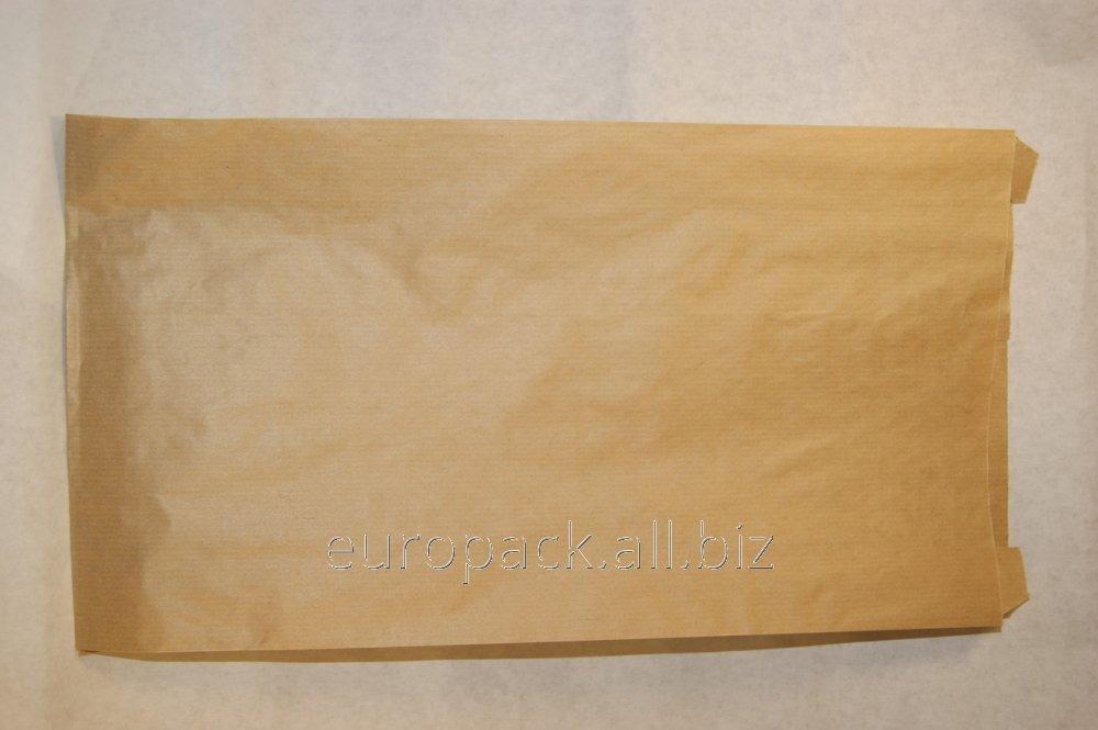 Пакет бумажный упаковочный крафт бурый 390х210х70
