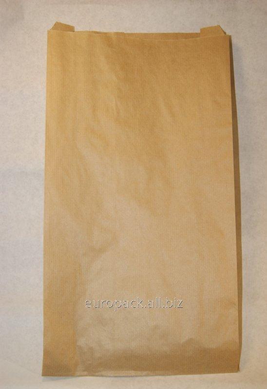 Пакет бумажный упаковочный крафт бурый 390х270х70