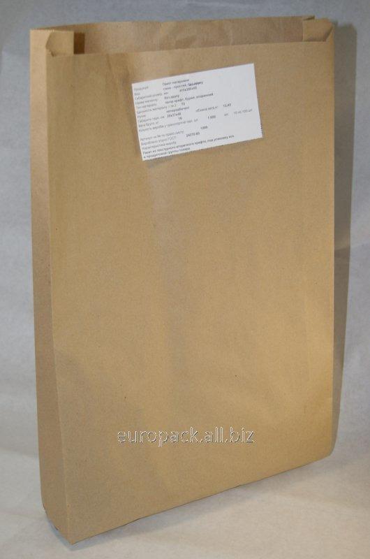 Пакет бумажный упаковочный крафт бурый вторичный 410х250х60