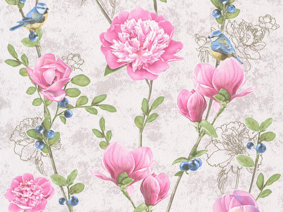 Купить Коллекция бумажных гофрированных обоев Kolorit В27.4 Черника 8062
