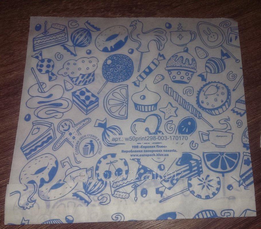 Уголок бумажный белый крафт жироустойчивый Сладкое ассорти 160х170