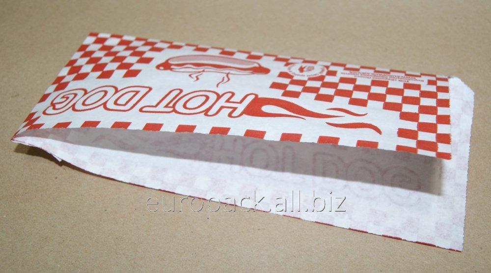 """Уголок для класического хот дога, рисунок """"Hot Dog"""" - красная клетка 200х85"""