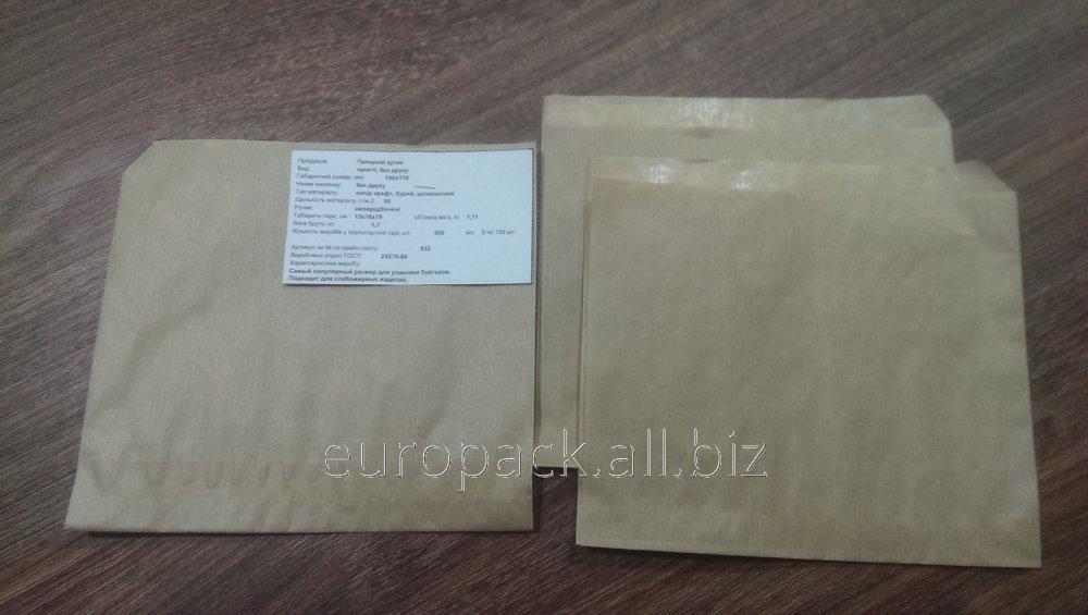 Уголок бумажный бурый крафт 160x170