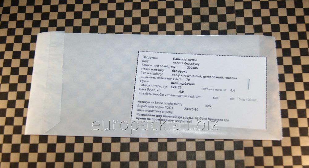 Уголок бумажный белый крафт 240х120