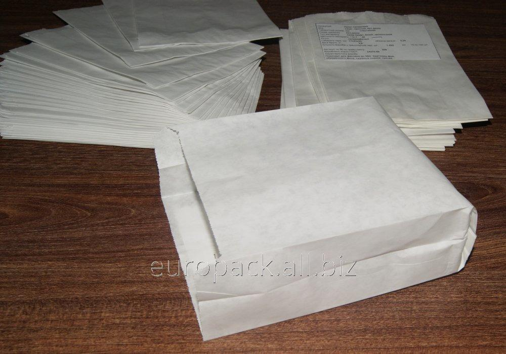 Пакет бумажный 170х120х50 крафт белый