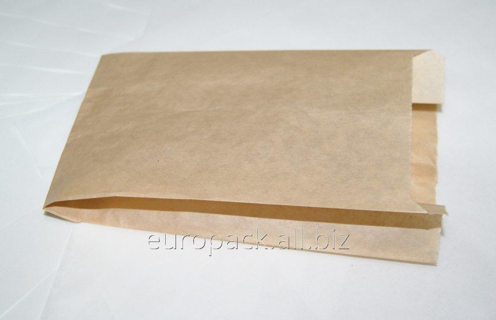 Пакет бумажный 170х100х50 крафт бурый