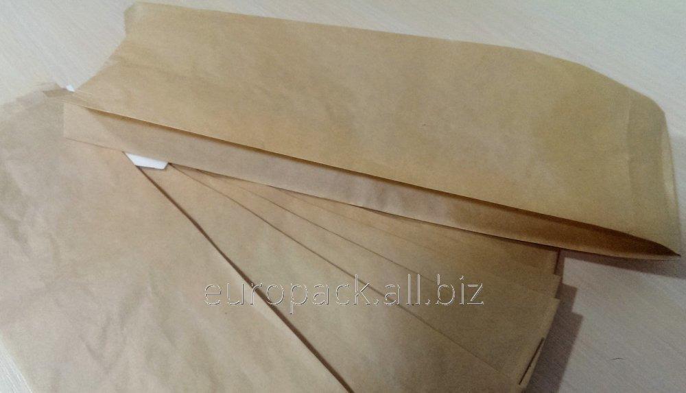 Пакет бумажный 310х90х50 крафт бурый