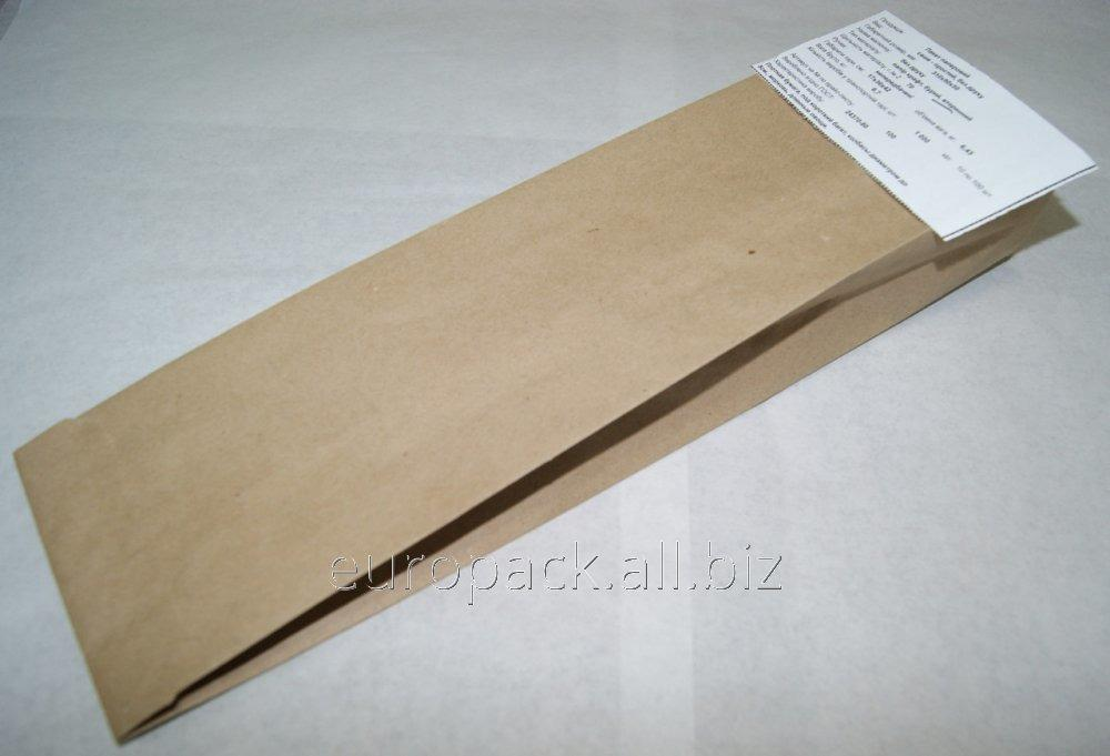 Пакет бумажный 310х90х50 бурый крафт вторичный