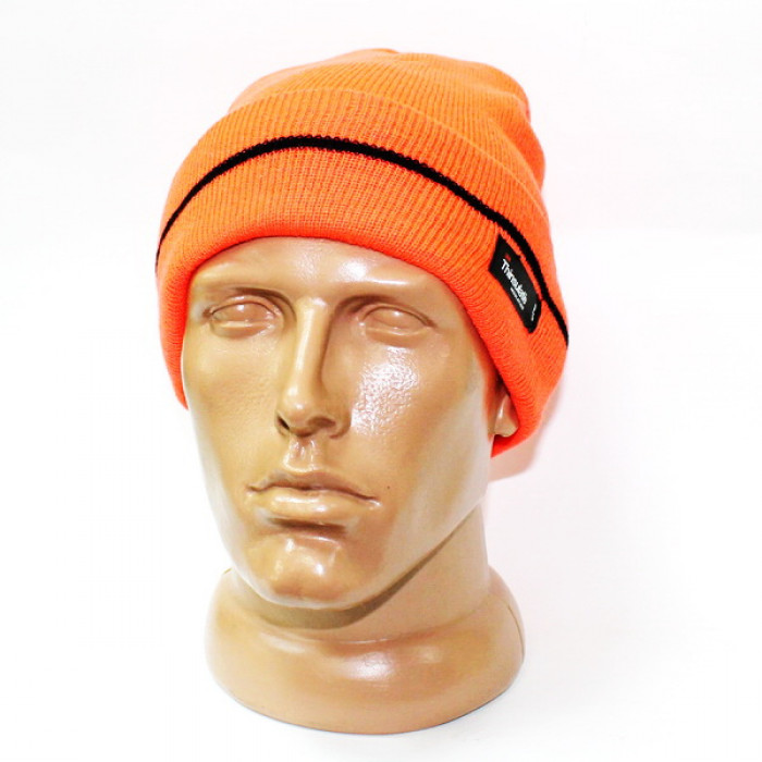 Купить Шапка вязаная Thinsulate оранжевая