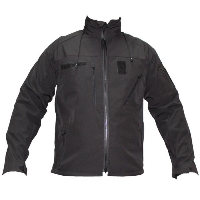 Купить Куртка тактическая софтшелл на флисе черная