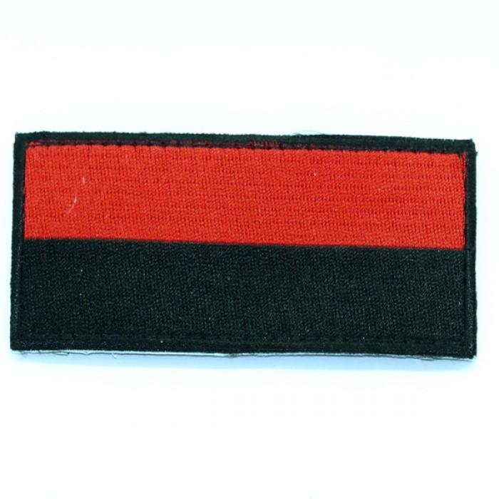 Купить Шеврнон на липучке красно-черный флаг 10х5 см