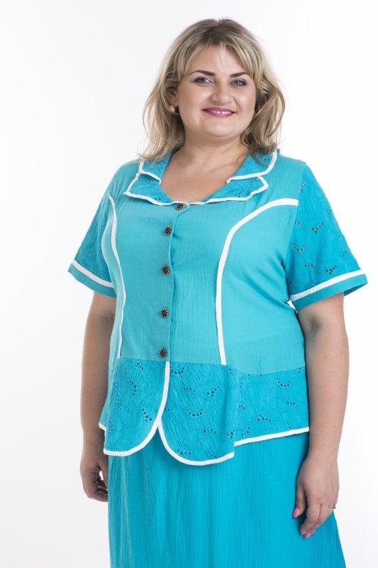 Красивая блуза больших размеров для женщин Прошва арт. 943П-2