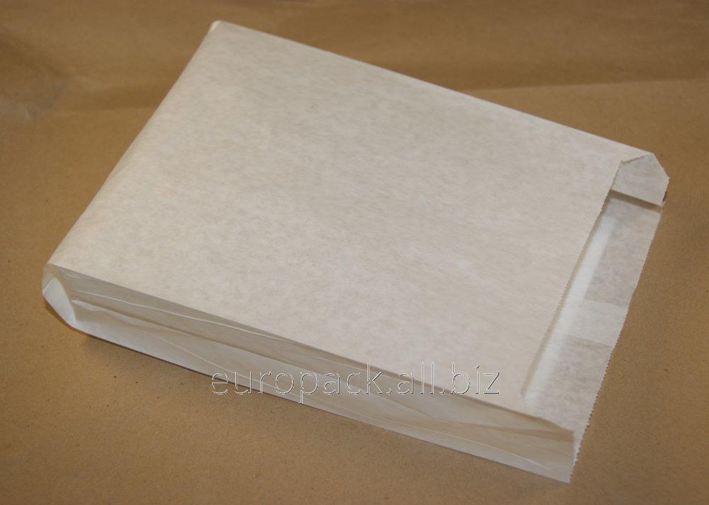 Пакет саше бумажный 240х120х50 крафт белый
