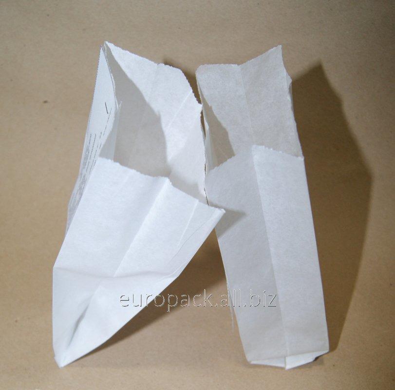 Пакет саше крафт белый 170х80х50