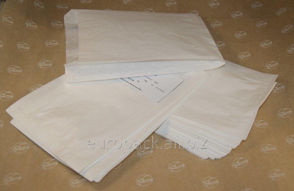Пакет саше крафт белый 270х140х50