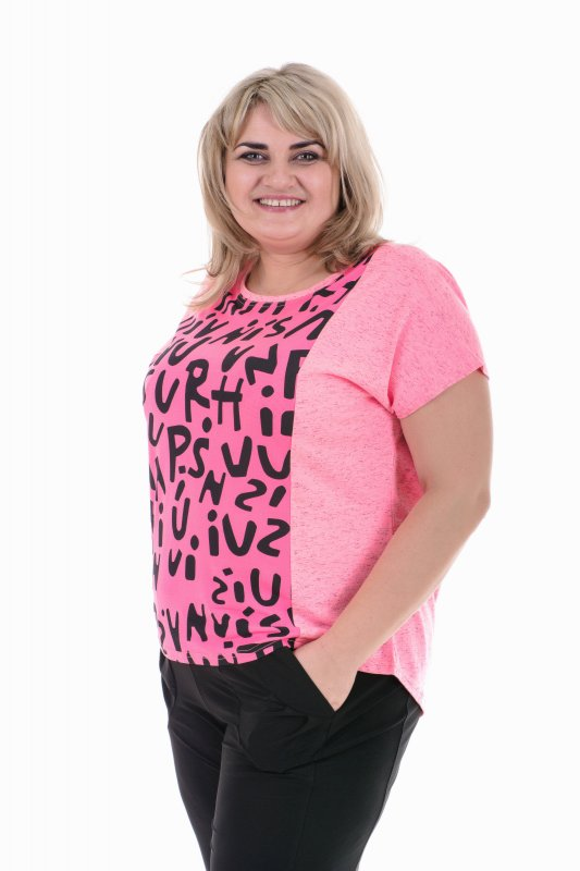 Красивая , легкая , летняя футболка для пышных дам Батик арт. 531Б-6