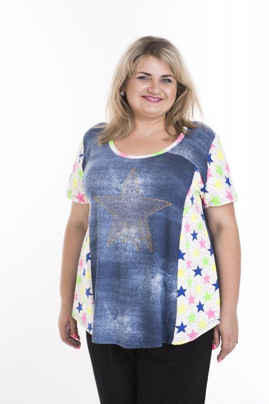 Легкая , летняя футболка из натуральной ткани больших размеров Виола арт.  196В-1