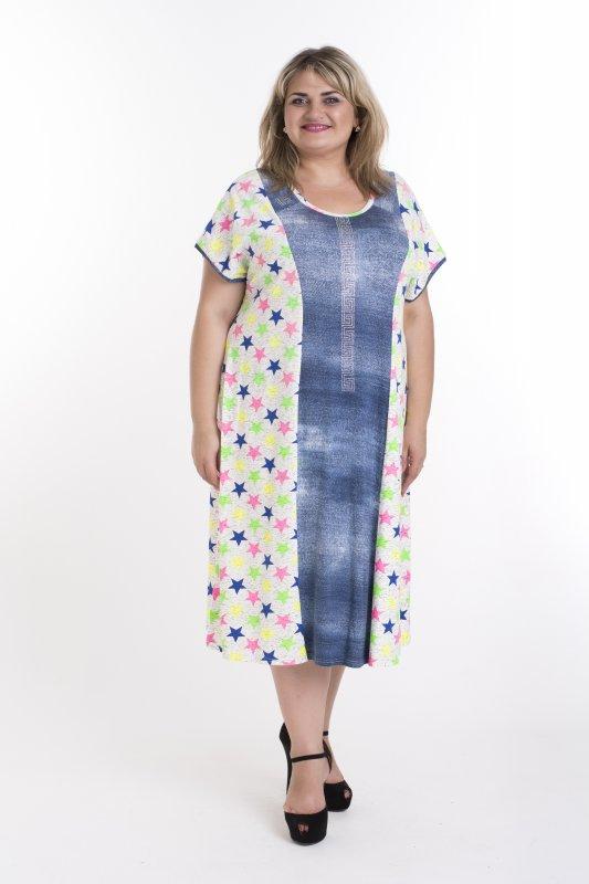 Легкое , летнее платье из натуральной ткани больших размеров Версачи арт.  948В-1