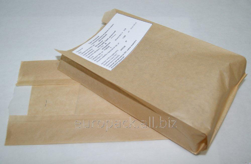 Бумажный пакет бурый крафт 240х120х50 с полипропиленовой прозрачной вставкой 40 мм