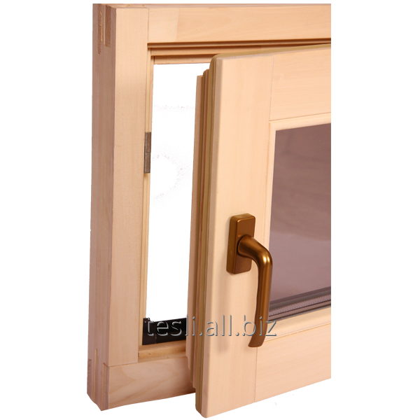 "Windows in the bath, sauna, natural wood window window ""swivel"""
